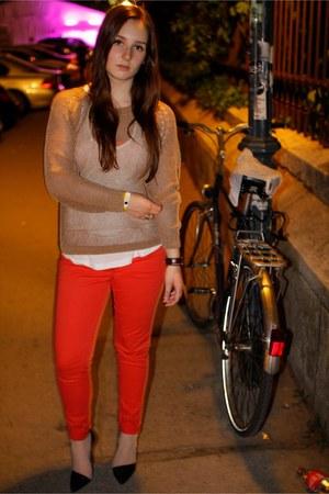 H&M pants - H&M jumper - Zara heels
