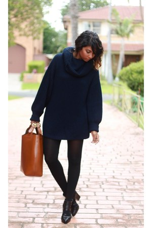 tawny shopping tote Zara bag - black cut-out pull&bear heels