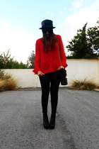 vintage shirt - sammydress boots - vintage hat - BLANCO bag - Bershka pants