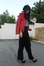 Local-shop-hat-local-shop-pants-atmosphere-blouse-zara-heels