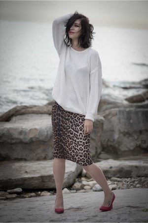 leopard print Topshop skirt
