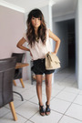 Pink-cotton-on-shirt-black-marcs-pants-black-mollini-shoes-beige-chanel-ac