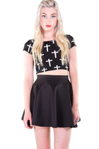 Black Crucifix Crop Top