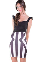 Geometrical Patterned Pencil Skirt