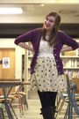 Fruit-print-modcloth-dress-crochet-threadsence-top-purple-madewell-cardigan