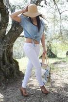 sky blue BLANCO shirt - Axel bag - white Low Cost pants