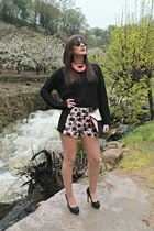 black BLANCO sweater - BLANCO shorts - black Zara heels