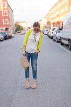 studded clutch Primark bag - boyfriend jeans Zara jeans