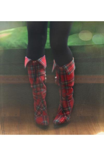 red claude bernard boots