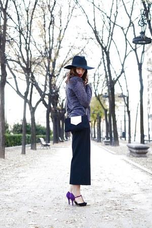purple Jaclin Madrid shoes - purple Mango sweater
