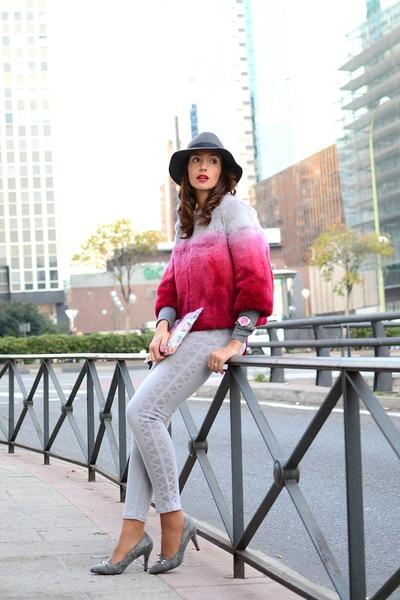 hot pink liu jo coat - silver Jaclin Madrid shoes - silver liu jo jeans