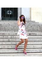 hot pink Northweek sunglasses - light pink Lavand dress - hot pink Guess sandals