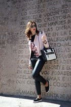 light pink Dandara jacket - light pink Zara shirt - black Mango pants