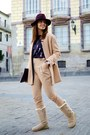 Camel-ugg-boots-camel-mango-coat-maroon-day-a-day-hat