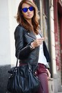 Black-mango-jacket-off-white-tsc2-shirt-black-tous-bag