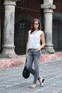 Heather-gray-zara-jeans-silver-mango-shirt-black-tous-bag