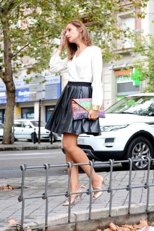 black ella luna skirt - ivory Eyedoll shirt