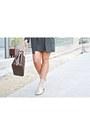 Eggshell-zara-boots-army-green-shein-dress-brown-louis-vuitton-bag