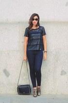 black liu jo jeans - brown liu jo boots - black Chloe sunglasses