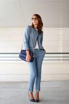 violet les petites suit - navy Zara bag