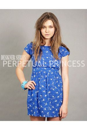 blue perpetual princess dress