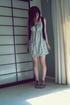 dress - supre vest - Overland shoes - necklace