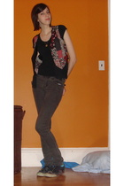 Target t-shirt - vest - Cheap Monday jeans - shoes