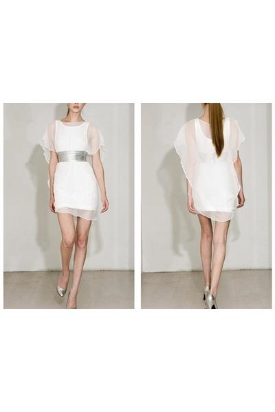 white Mike Vensel dress