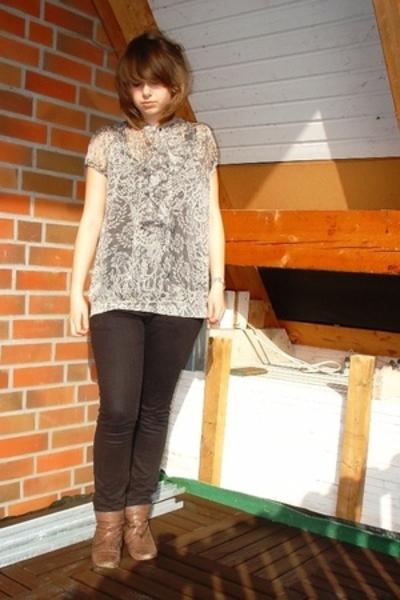 Promod blouse - H&M pants - grtz shoes