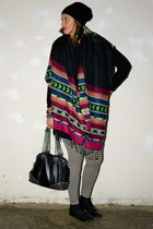 H&M scarf - H&M leggings - Marc  Jacobs bag