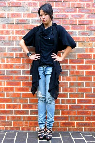 Ally jacket - Ally vest - The Beta State top - Sportsgirl belt - Sportsgirl jean