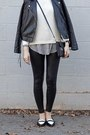 Black-nordstrom-leggings-striped-shirt-sheinside-shirt-flats-asos-flats