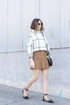 skirt Nordstrom skirt - sweater Chicwish sweater - flats flats