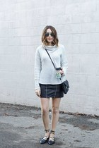 leather skirt Coverii skirt - sweater Old Navy sweater