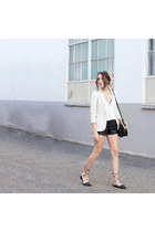 Urban Outfitters blazer - Forever 21 purse - leather shorts Sheinside shorts