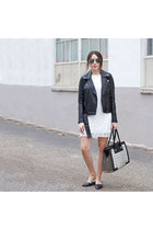 moto jacket Forever 21 jacket - TFNC LONDON dress - purse purse