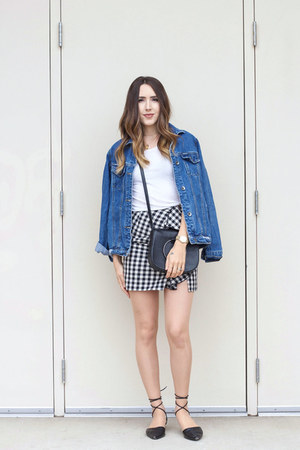 gingham skirt H&M skirt