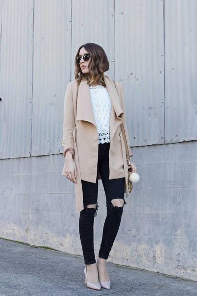 top top - coat romwe coat - jeans Topshop jeans - purse purse