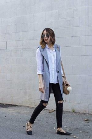 vest romwe vest - jeans Topshop jeans