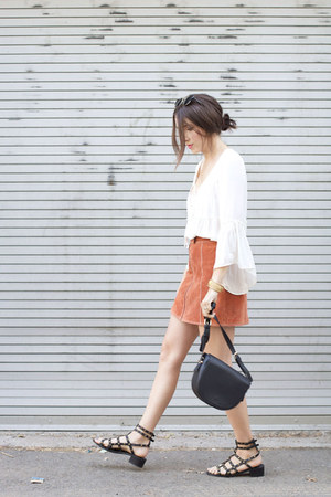 suede skirt Topshop skirt - crossbody bag Forever 21 purse