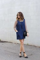 denim dress Forever 21 dress - lace-up flats flats