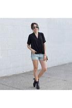 black top Topshop top - Target shorts