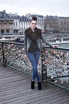 stole thrifted scarf - warehouse jacket - Ebay wedges
