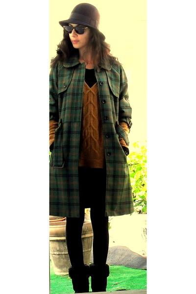 burnt orange Mango sweater - dark green BLANCO coat - black Ugg shoes - black H&