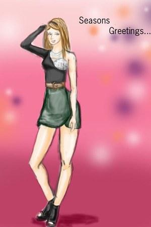 skirt - boots - bodysuit - belt