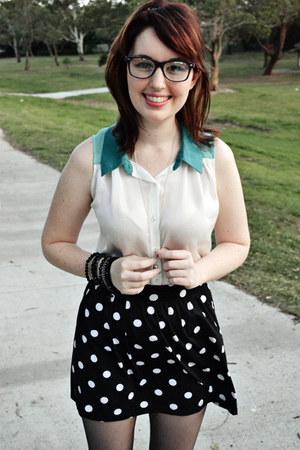 aquamarine Sportsgirl blouse - black Target skirt