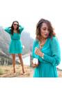 Neutral-charlotte-russe-shoes-turquoise-blue-trixxi-dress