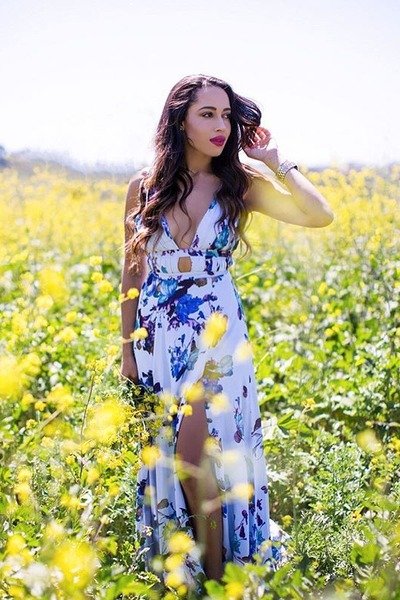 white floral Fame & Partners dress