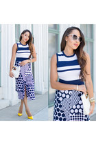 yellow Shoedazzle shoes - white Michael Kors bag - Forever 21 sunglasses
