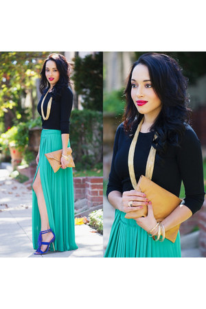 aquamarine bcbg max azria skirt - blue B Brian Atwood shoes